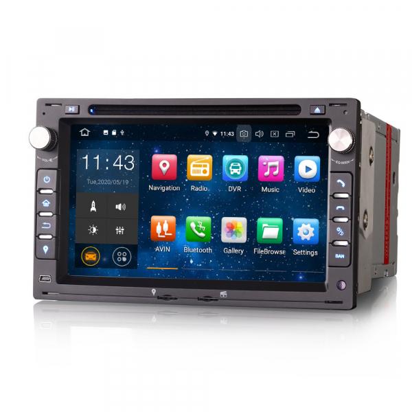 Navigatie auto 2 din, Pachet dedicat VW Golf Passat Polo Lupo Seat Peugeot 307, Android 10, 7 inch [1]
