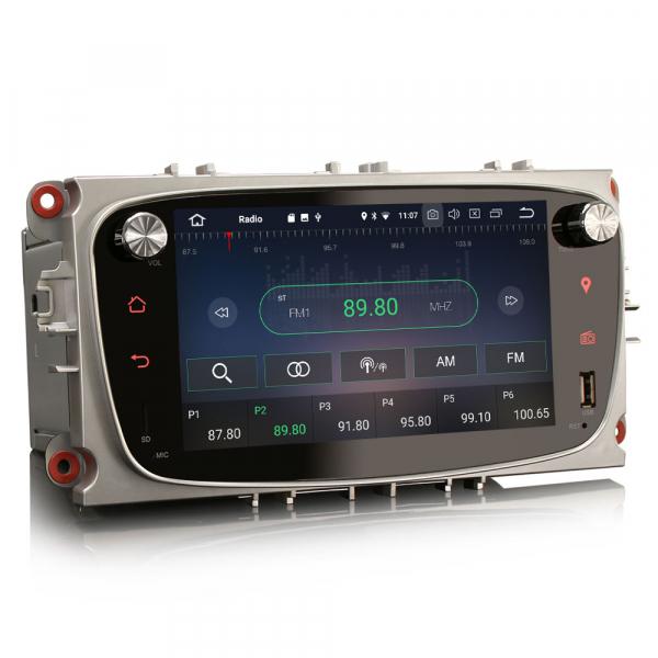 Navigatie auto 2 din, Pachet dedicat Ford Focus Mondeo, 7 Inch, Android 10.0 4