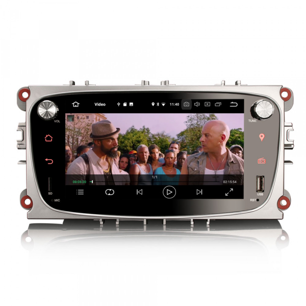 Navigatie auto 2 din, Pachet dedicat Ford Focus Mondeo, 7 Inch, Android 10.0 5