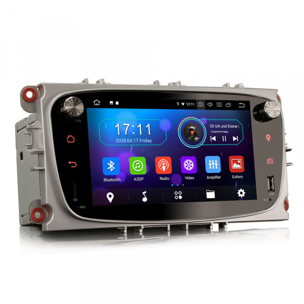 Navigatie auto 2 din, Pachet dedicat Ford Focus Mondeo, 7 Inch, Android 10.0 6