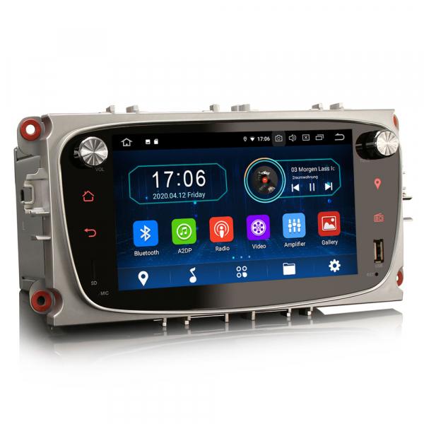 Navigatie auto 2 din, Pachet dedicat Ford Focus Mondeo, 7 Inch, Android 10.0 3
