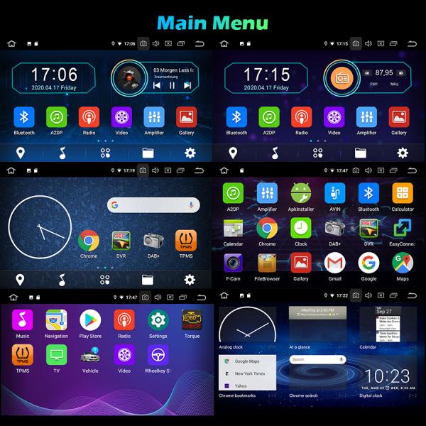 Navigatie auto 2 din, Pachet dedicat Ford Focus Mondeo, 7 Inch, Android 10.0 10