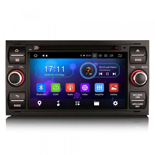 Navigatie auto 2Din, Pachet dedicat Ford Focus Kuga Transit Galaxy, 7 Inch, Android 10.0 0