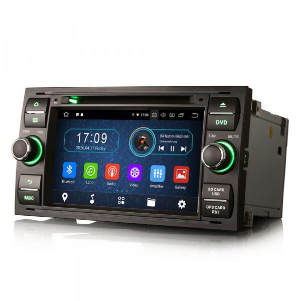 Navigatie auto 2Din, Pachet dedicat Ford Focus Kuga Transit Galaxy, 7 Inch, Android 10.0 5