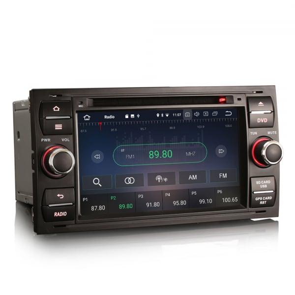 Navigatie auto 2Din, Pachet dedicat Ford Focus Kuga Transit Galaxy, 7 Inch, Android 10.0 6