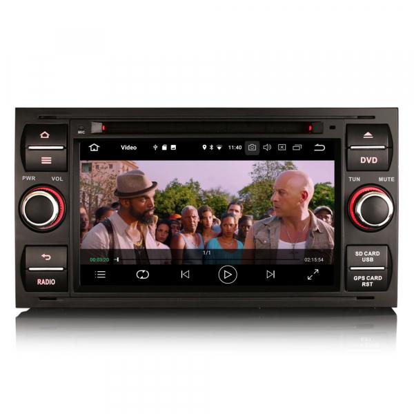 Navigatie auto 2Din, Pachet dedicat Ford Focus Kuga Transit Galaxy, 7 Inch, Android 10.0 7