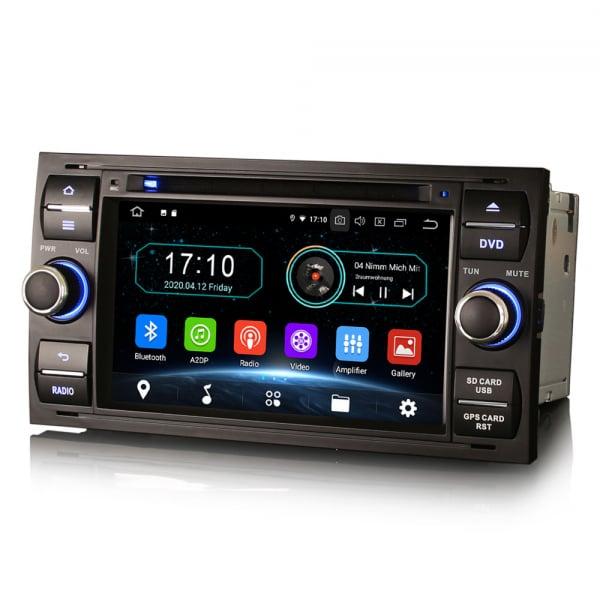 Navigatie auto 2Din, Pachet dedicat Ford Focus Kuga Transit Galaxy, 7 Inch, Android 10.0 1