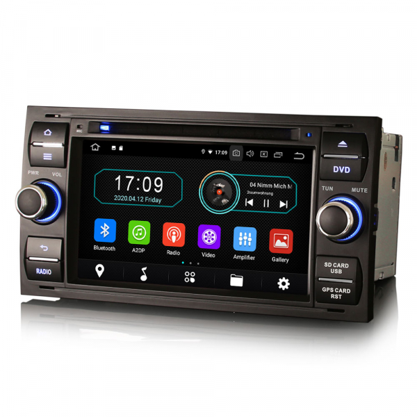 Navigatie auto 2Din, Pachet dedicat Ford Focus Kuga Transit Galaxy, 7 Inch, Android 10.0 2