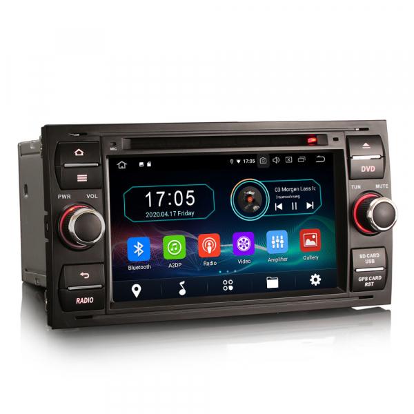 Navigatie auto 2Din, Pachet dedicat Ford Focus Kuga Transit Galaxy, 7 Inch, Android 10.0 3