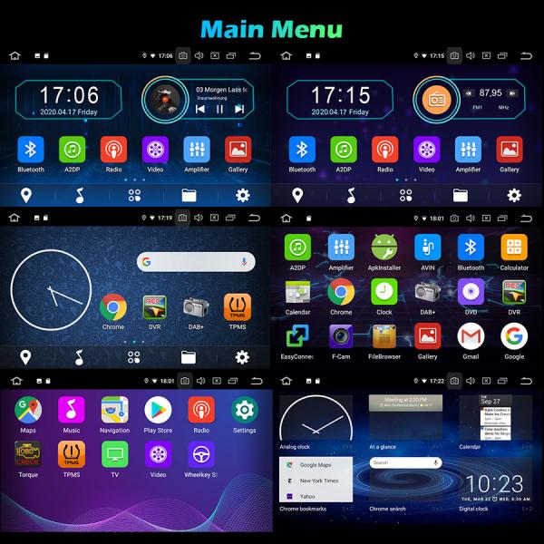 Navigatie auto 2Din, Pachet dedicat Ford Focus Kuga Transit Galaxy, 7 Inch, Android 10.0 9