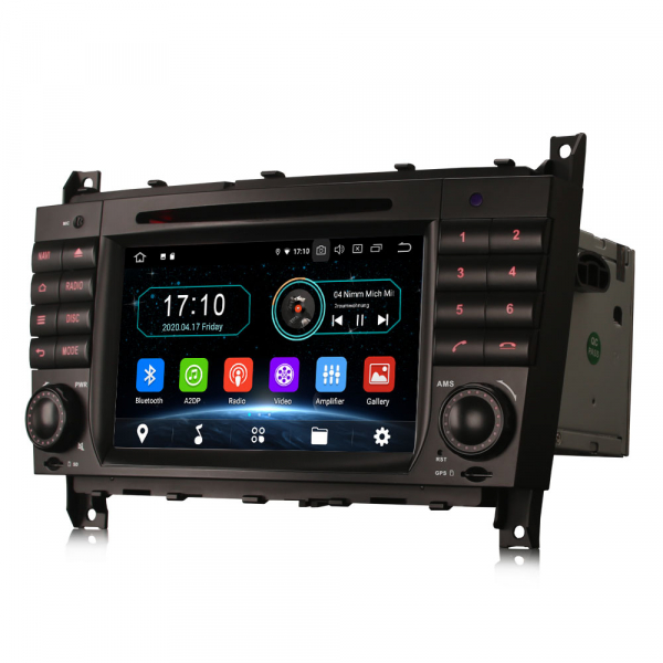 Navigatie auto, Pachet dedicat MercedesBenz C-Class W203 CLC CLK W209,7 inch, Android 10, Octa Core 3