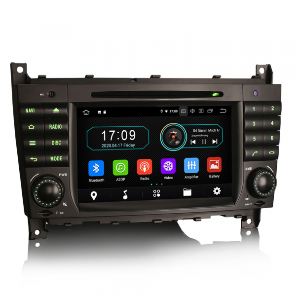 Navigatie auto, Pachet dedicat MercedesBenz C-Class W203 CLC CLK W209,7 inch, Android 10, Octa Core 6
