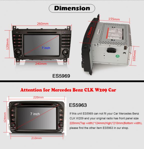 Navigatie auto, Pachet dedicat MercedesBenz C-Class W203 CLC CLK W209,7 inch, Android 10, Octa Core 8