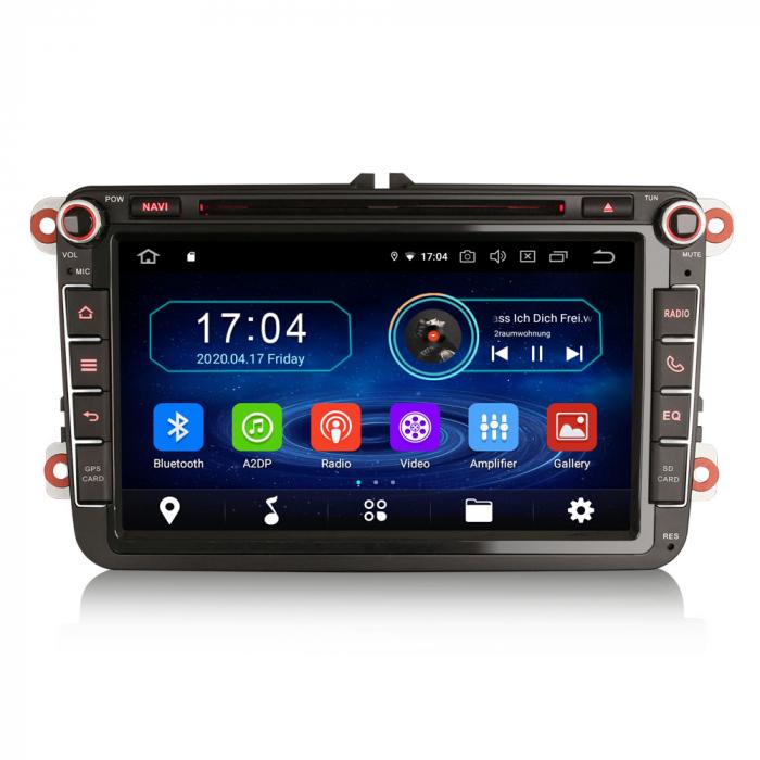 Navigatie auto 2 din, Pachet dedicat VW/SEAT/SKODA, Android 10, Quad Core 0