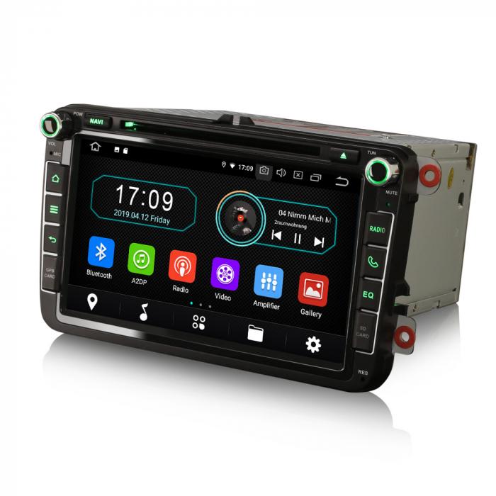 Navigatie auto 2 din, Pachet dedicat VW/SEAT/SKODA, Android 10, Quad Core 3