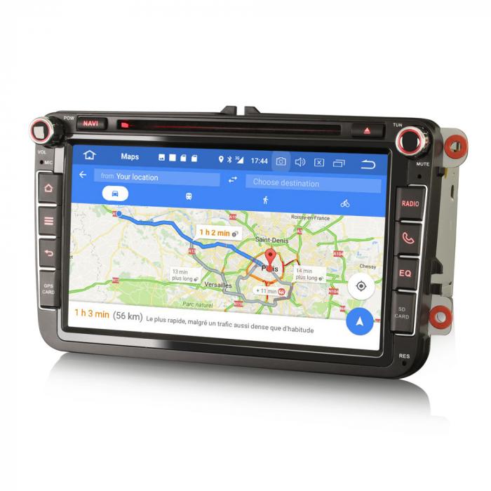 Navigatie auto 2 din, Pachet dedicat VW/SEAT/SKODA, Android 10, Quad Core 5