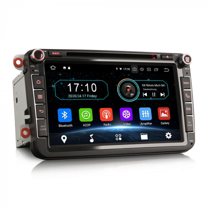 Navigatie auto 2 din, Pachet dedicat VW/SEAT/SKODA, Android 10, Quad Core 6
