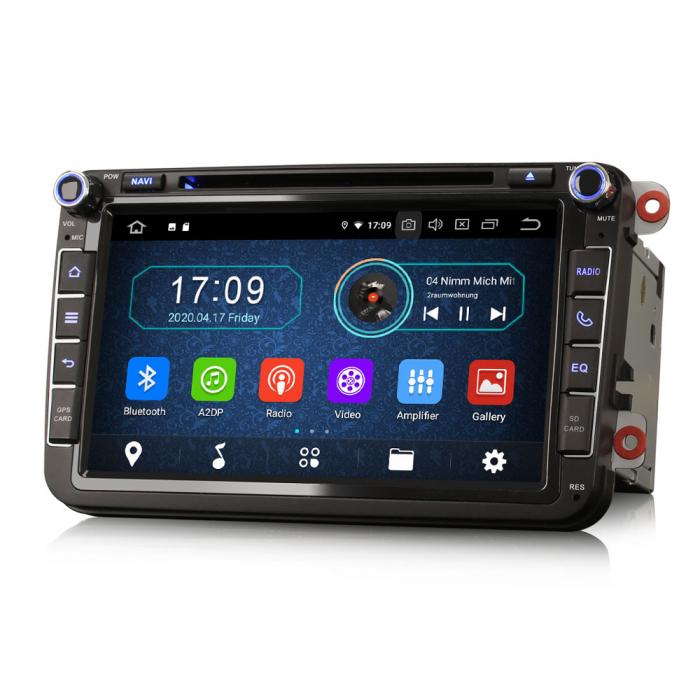 Navigatie auto 2 din, Pachet dedicat VW/SEAT/SKODA, Android 10, Octa Core 1
