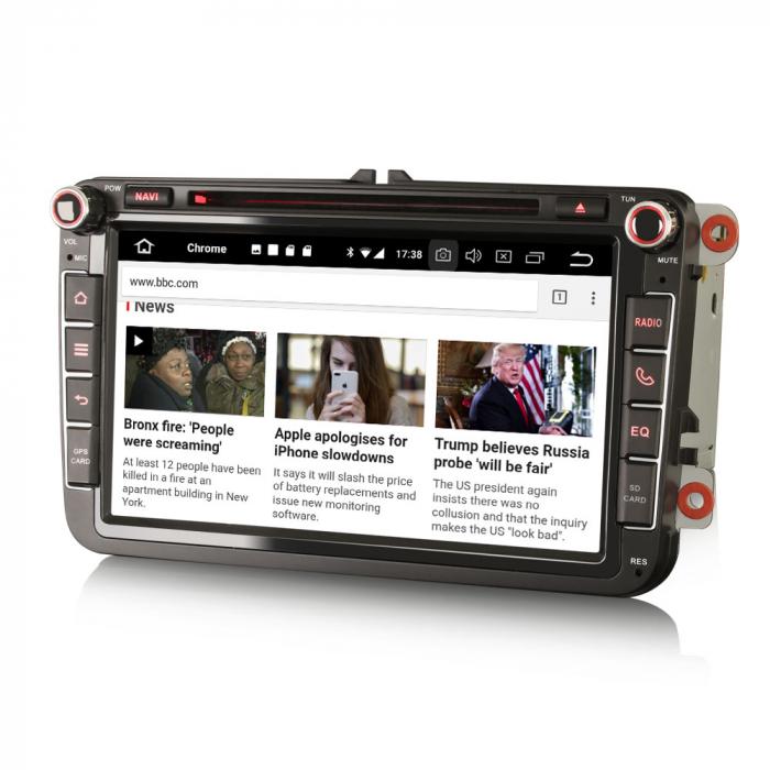 Navigatie auto 2 din, Pachet dedicat VW/SEAT/SKODA, Android 10, Quad Core 1