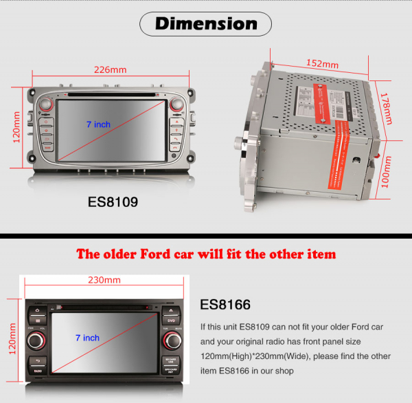 Navigatie auto, Pachet dedicat  Ford Mondeo Focus Galaxy S-MAX C-MAX ,7 inch, Android10.0, Octa Core [10]
