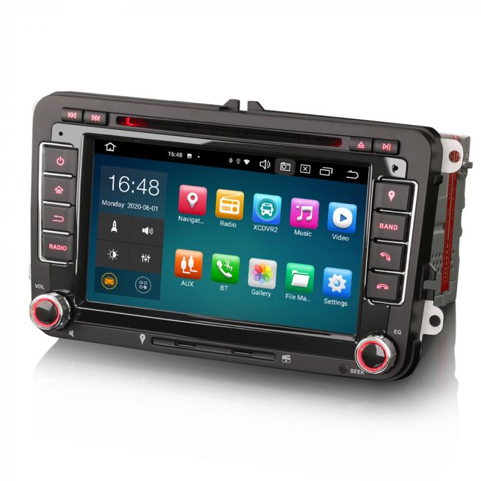 "Navigatie auto dedicata VW Golf Jetta Passat Seat Skoda ,7"" , Android 10.0, Octa Core [6]"