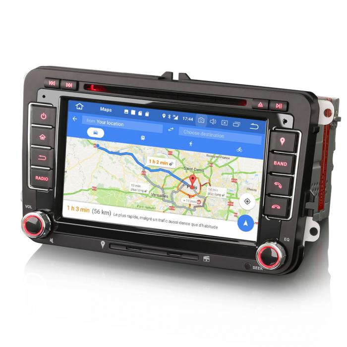 "Navigatie auto dedicata VW Golf Jetta Passat Seat Skoda ,7"" , Android 10.0, Octa Core [7]"