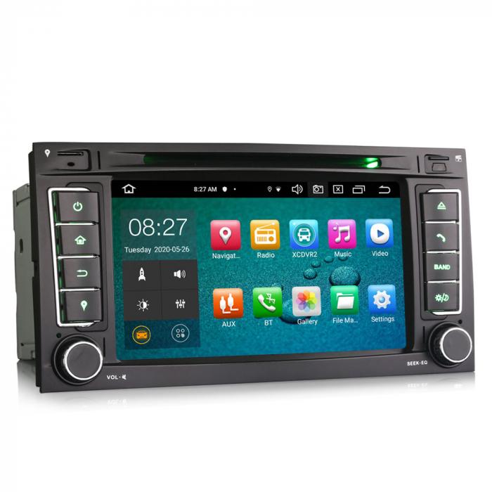 Navigatie auto 2 din, Pachet dedicat VW T5 Multivan TOUAREG, Android 10, 7 Inch, Octa Core [7]