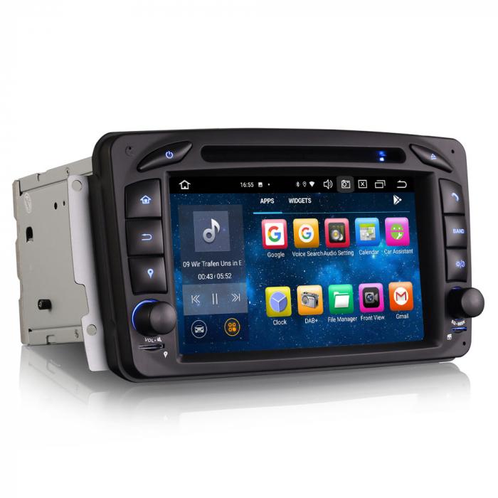 Navigatie auto 2 din, Pachet dedicat Mercedes  Benz CLK W209, Android 10, Octa Core 6