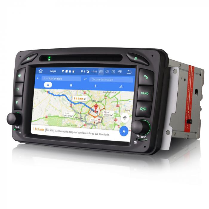 Navigatie auto 2 din, Pachet dedicat Mercedes  Benz CLK W209, Android 10, Octa Core 7