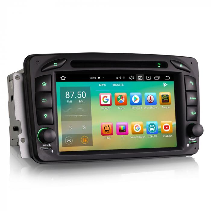 Navigatie auto 2 din, Pachet dedicat Mercedes  Benz CLK W209, Android 10, Octa Core 4