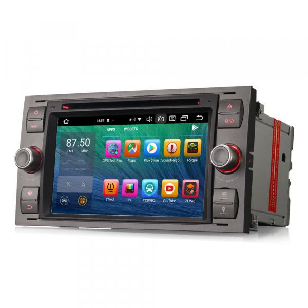 Navigatie auto 2 din, Pachet dedicat Ford Fusion Kuga Mondeo Fiesta, 7 Inch, Android 10.0, Octa Core 6