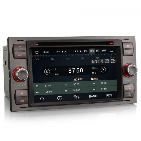 Navigatie auto 2 din, Pachet dedicat Ford Fusion Kuga Mondeo Fiesta, 7 Inch, Android 10.0, Octa Core 7