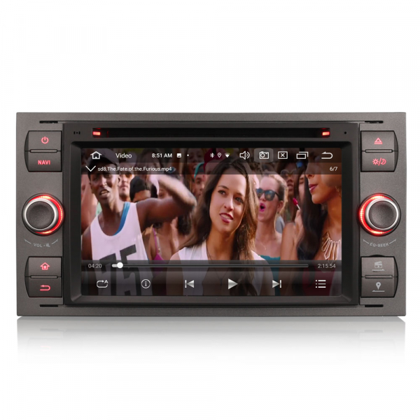 Navigatie auto 2 din, Pachet dedicat Ford Fusion Kuga Mondeo Fiesta, 7 Inch, Android 10.0, Octa Core 8