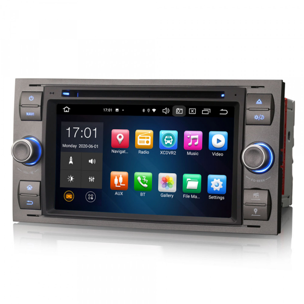 Navigatie auto 2 din, Pachet dedicat Ford Fusion Kuga Mondeo Fiesta, 7 Inch, Android 10.0, Octa Core 1