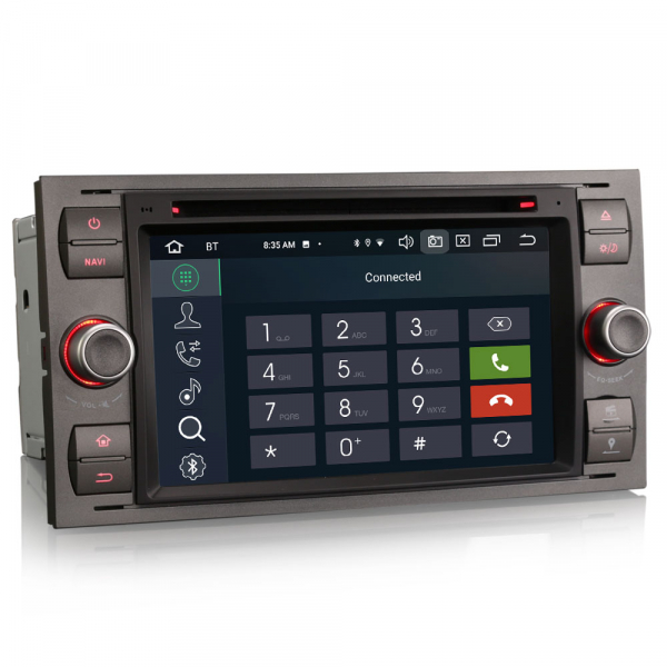Navigatie auto 2 din, Pachet dedicat Ford Fusion Kuga Mondeo Fiesta, 7 Inch, Android 10.0, Octa Core 2