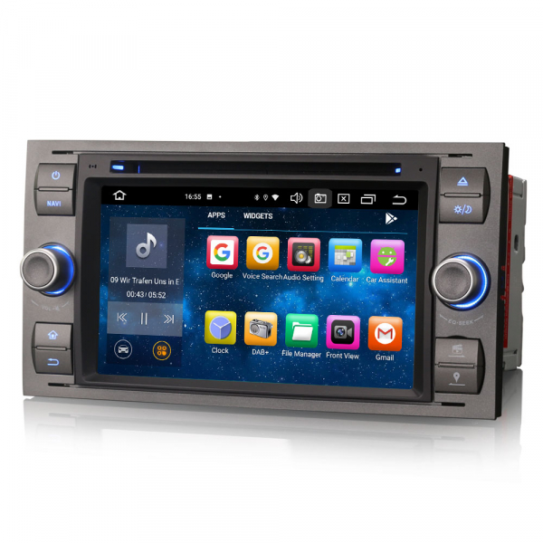 Navigatie auto 2 din, Pachet dedicat Ford Fusion Kuga Mondeo Fiesta, 7 Inch, Android 10.0, Octa Core 4
