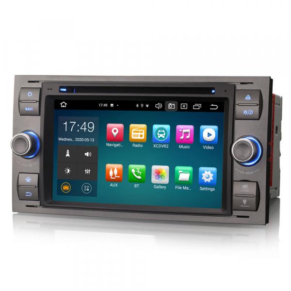 Navigatie auto 2 din, Pachet dedicat Ford Fusion Kuga Mondeo Fiesta, 7 Inch, Android 10.0, Octa Core 5