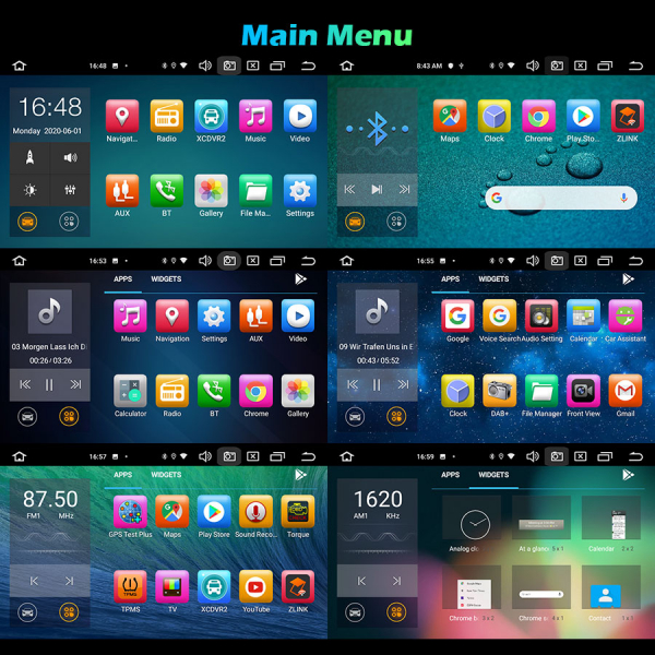 Navigatie auto 2 din, Pachet dedicat Ford Fusion Kuga Mondeo Fiesta, 7 Inch, Android 10.0, Octa Core 10