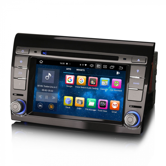 Navigatie auto, Pachet dedicat  FIAT BRAVO 2007, Android 10, 7 inch Octa Core 4