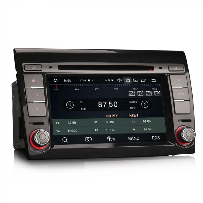 Navigatie auto, Pachet dedicat  FIAT BRAVO 2007, Android 10, 7 inch Octa Core 5