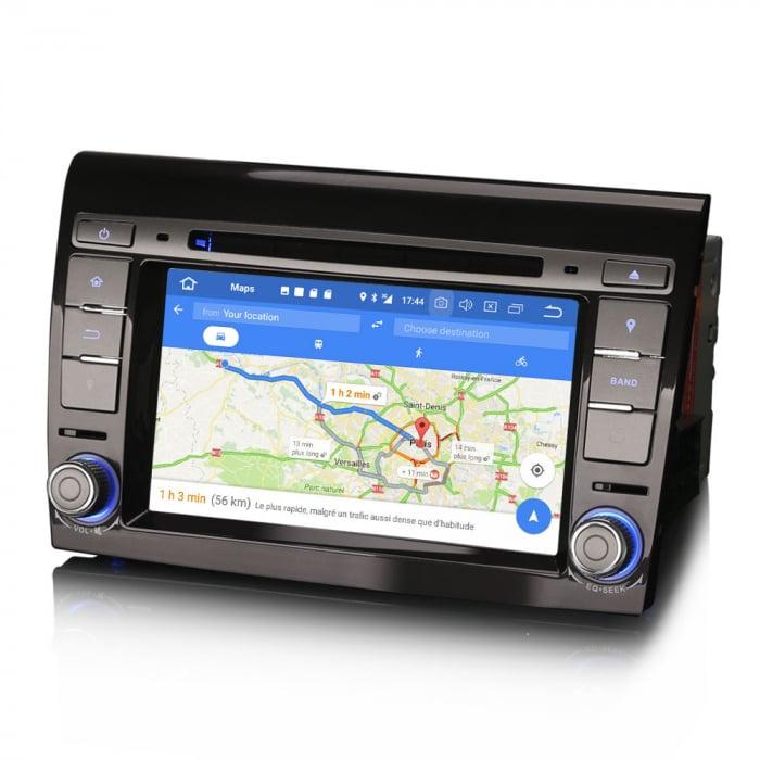 Navigatie auto, Pachet dedicat  FIAT BRAVO 2007, Android 10, 7 inch Octa Core 6