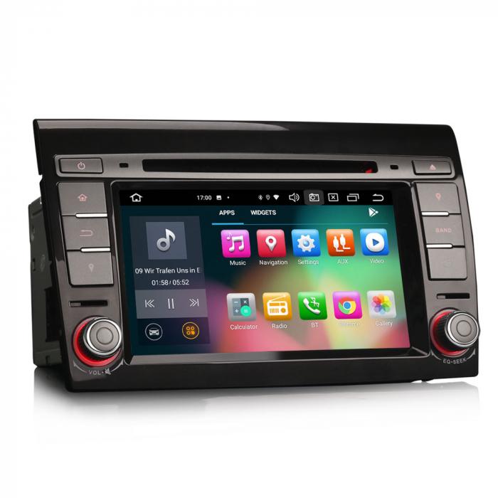 Navigatie auto, Pachet dedicat  FIAT BRAVO 2007, Android 10, 7 inch Octa Core 7