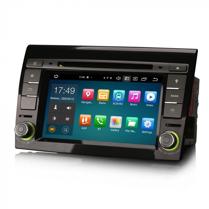 Navigatie auto, Pachet dedicat  FIAT BRAVO 2007, Android 10, 7 inch Octa Core 1