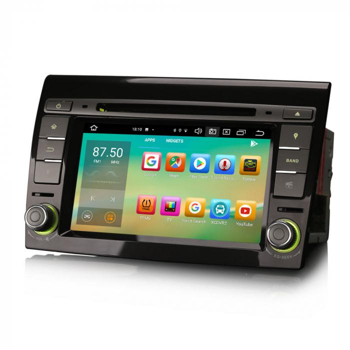 Navigatie auto, Pachet dedicat  FIAT BRAVO 2007, Android 10, 7 inch Octa Core 3