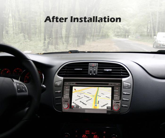 Navigatie auto, Pachet dedicat  FIAT BRAVO 2007, Android 10, 7 inch Octa Core 8