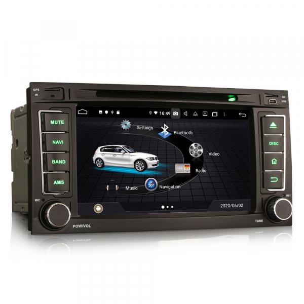 Navigatie auto 2 din, Pachet dedicat VW TOUAREG T5, Android 10, 7 Inch, Octa Core 4