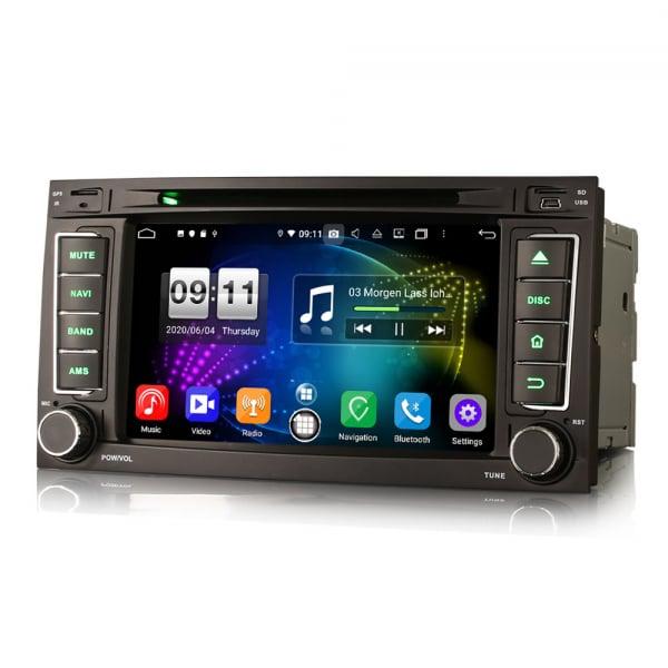 Navigatie auto 2 din, Pachet dedicat VW TOUAREG T5, Android 10, 7 Inch, Octa Core 6