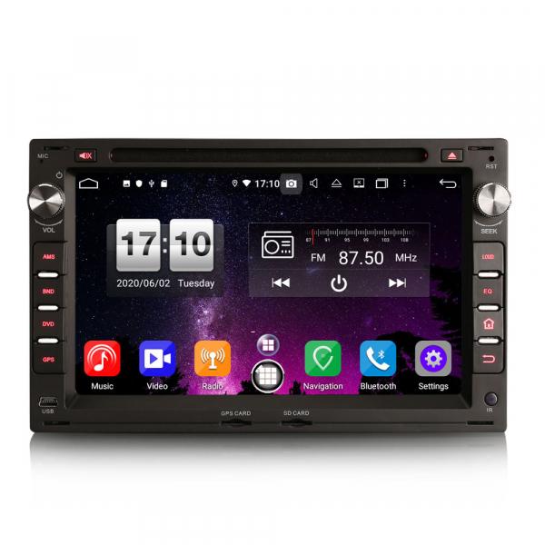 Navigatie auto 2 din, Pachet dedicat VW Golf Passat Polo Lupo Seat Peugeot 307, Android 10, 7 inch, Octa Core [0]