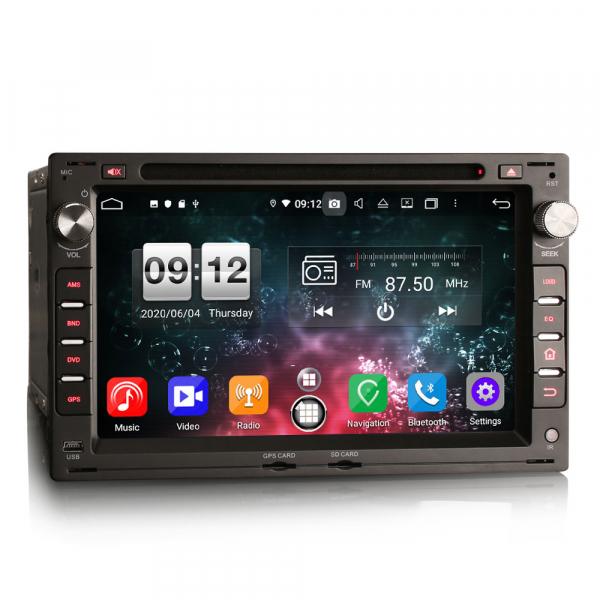 Navigatie auto 2 din, Pachet dedicat VW Golf Passat Polo Lupo Seat Peugeot 307, Android 10, 7 inch, Octa Core [3]