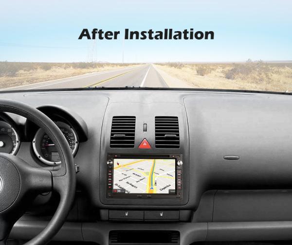 Navigatie auto 2 din, Pachet dedicat VW Golf Passat Polo Lupo Seat Peugeot 307, Android 10, 7 inch, Octa Core [7]